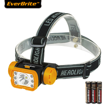 Everbrite High Power LED Head Light 6LED Head Lamp 100 Lumens LED Headlight Torch 3AAA Batteries