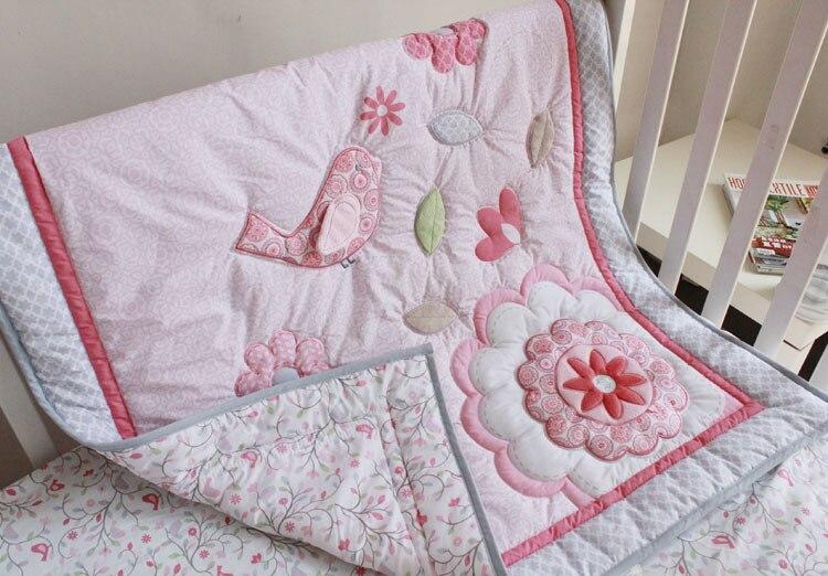 Lovely Mini Crib Bedding Girl