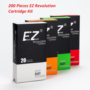 Image 1 - 200 pièces Lot mixte EZ révolution cartouche aiguilles de tatouage RL RS M1 CM compatible avec système de cartouche Machines de tatouage poignées