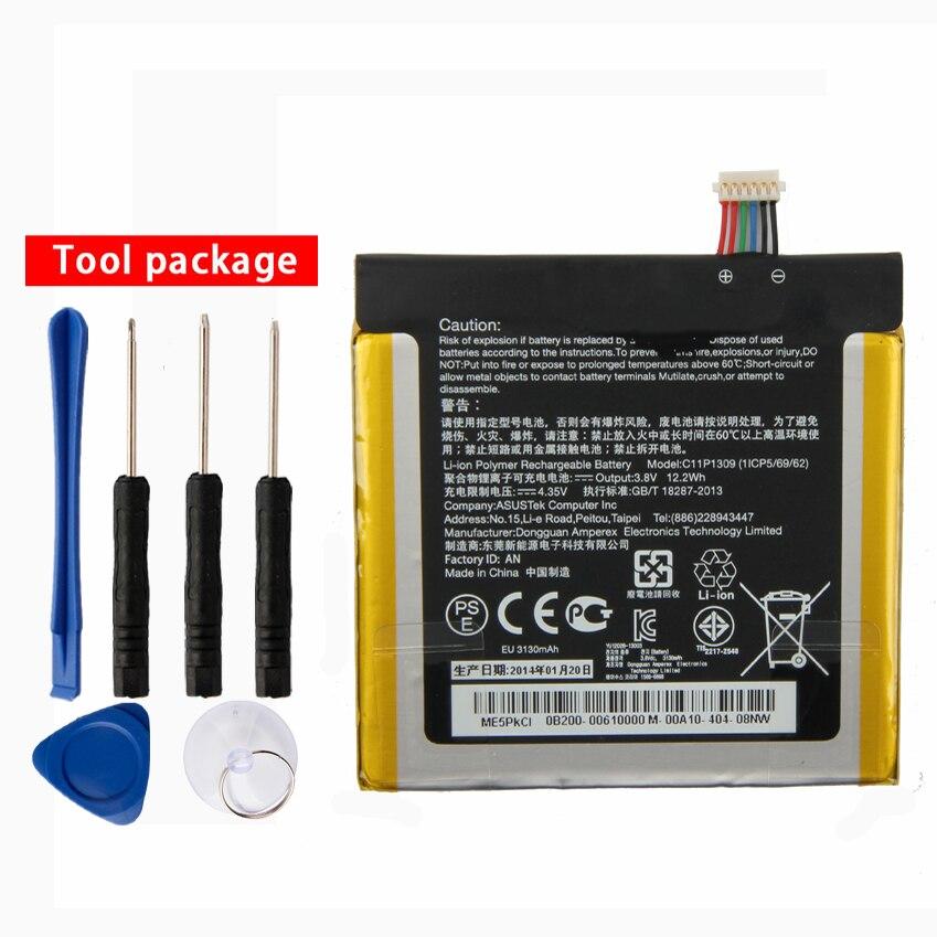 Original High Capacity C11P1309 Battery For Asus Fonepad Note FHD 6 ME560CG K00G 3130mAh