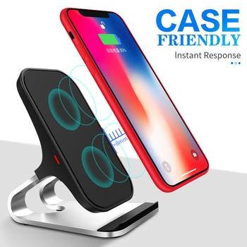 10 W צ 'י אלחוטי מטען עבור iPhone Xs Max Xr X עבור סמסונג S10 S9 אינטליגנטי אינפרא אדום מהיר Wirless טעינה מכונית טלפון בעל
