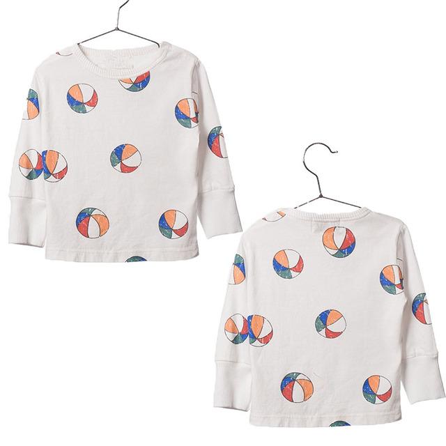 Moda Infantil Meninos Camisetas de Algodão Meninas De Manga Longa Camiseta Crianças Verão Encabeça Todders Bebê Menino Roupas Bobo Choses 2017