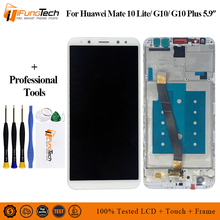 5.9 1920x1080 IPS Display for Huawei Mate 10 Lite LCD Touch Screen Digitizer with Frame for Mate 10 Lite LCD Frame Replacement 5d10m42869 b140han04 2 ips matte antiglare 1920x1080 fhd matrix for laptop 14 0 lcd screen led display replacement