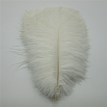 Wholesale 10 Pcs/Lot Natural White Ostrich Feathers For Crafts 15-75CM Carnival Costumes Party Home Wedding Decorations Plumes
