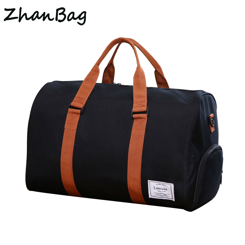 35L Large capacity women travel Bag Waterproof polyster fashion travel duffle organizer Multifunction mens big shoulder bags 197