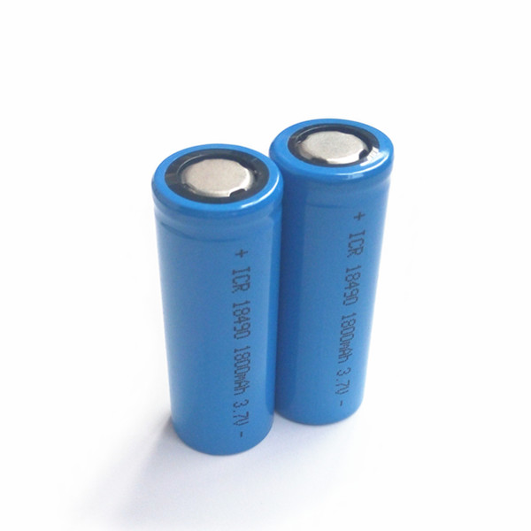 Hot sale ICR18490 <font><b>ICR</b></font> 18490 <font><b>18500</b></font> 3.7V 3.6v 1800mAh lithium Li-ion Rechargeable <font><b>Batteries</b></font> with Free charger for e-cigarettes image