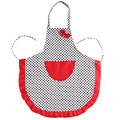 2017 Beautiful Apron Cute Black Dot BowKnot Dot Women Kitchen Restaurant Bib Cooking Aprons With Pocket Length 75CM Width 65 CM