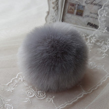 Feida chain помпоном holder плагин key кролика мех мобильный мяч дамы