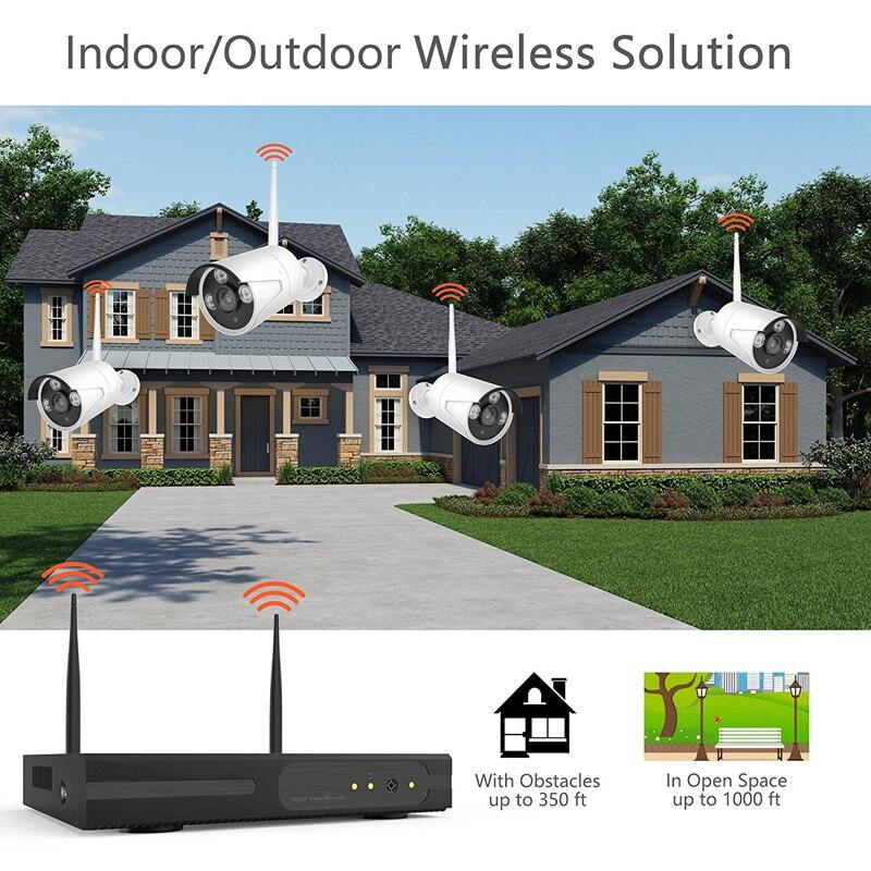 Wetterfeste Stecker und Spielen P2P Cloud Basierend 4CH 1.3MP 960 p HD Drahtlose WiFi Kamera NVR Kit Für Indoor Outdoor home Shop Sicherheit - 6