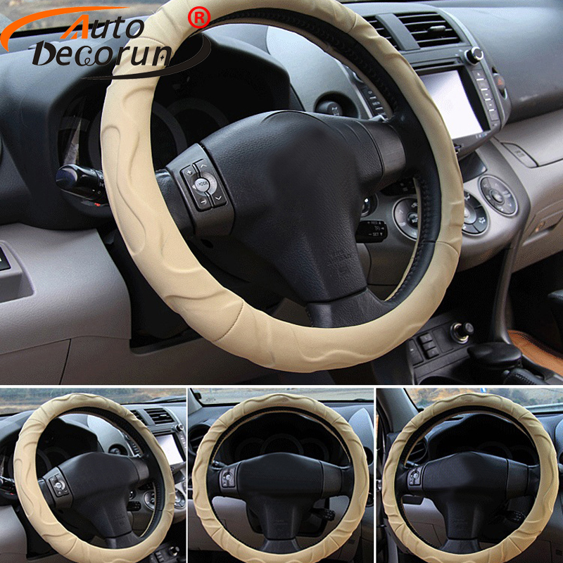 AutoDecorun Faux Sheep Car Steering Wheels Cover For Acura