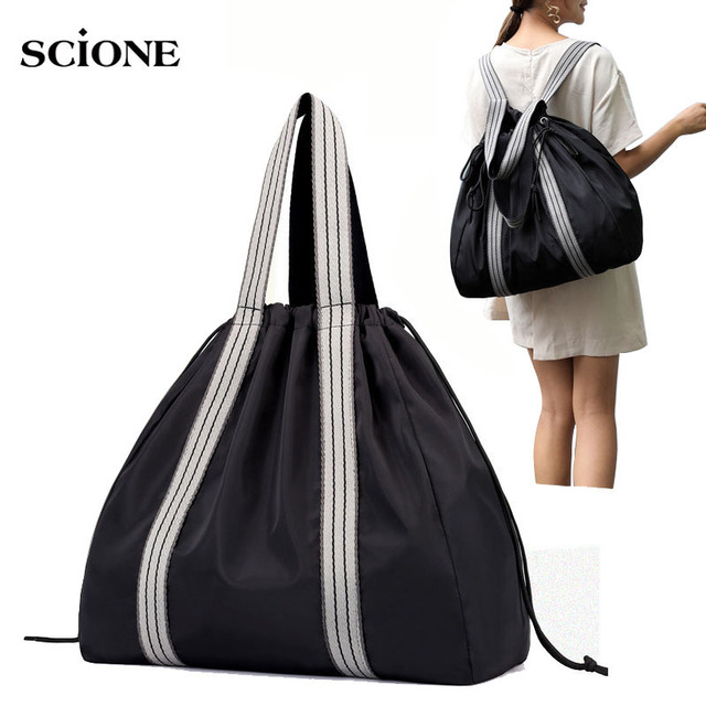 Nylon Yoga Mat Bags Gym fitness Bag Backpack Sac De Sport Sports Shoulder Drawstring Gymtas Handbag for women Rucksack XA690WA