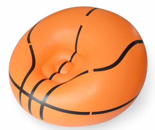 Гостиная диван надувной Баскетбол футбол диван одно место диван Защита окружающей среды ПВХ белый черный bearing100kgs Lounge