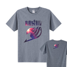 New Hot Anime Galaxy Fairy Tail Cotton T Shirt Men Short Sleeve Fairy Tail T-Shirt men t Shirt