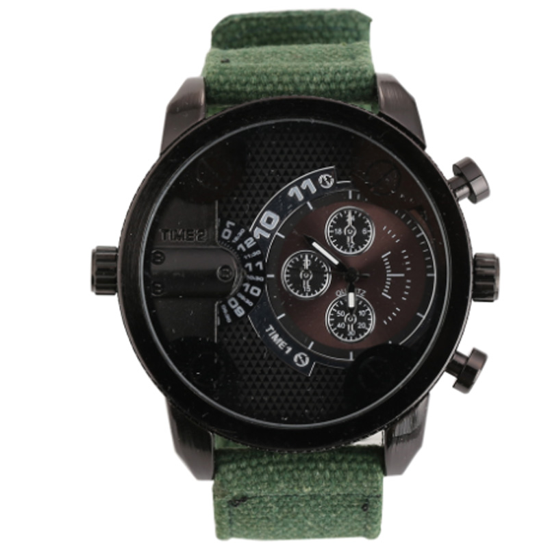 Shiweibao Mens Watches Top Brand Luxury Quartz Watch Men Fabric Strap Dual Time Zones Military Wristwatches Relogio Masculino