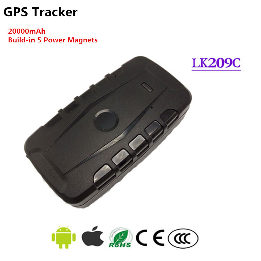 <font><b>LK209C</b></font> Magnetic Car GSM GPS Tracker 20000Mah Battery Google Link Real Time Vechicle Tracking Standby 240 days IPX-6 Waterproof image