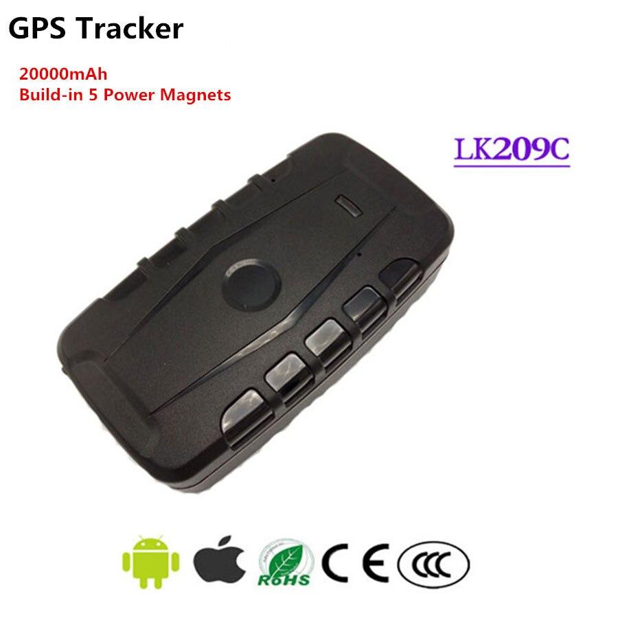 LK209C Magnetische Auto GSM GPS Tracker 20000 mah Batterij Google Koppeling Real Time Vechicle Tracking Standby 240 dagen IPX 6 Waterdicht
