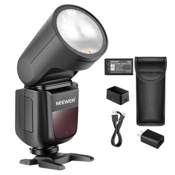 Neewer V1-S Camera Flash Speedlight Compatible with Sony DSLRs, 76Ws 2.4G TTL Round Head, 1/8000 HSS, 1.5s Recycle Time