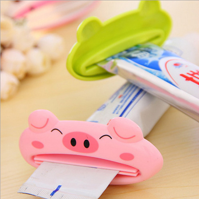 2 pz Cartoon Squeezer Dentifricio Estrusore Premuto Cosmetici Detergente viso To