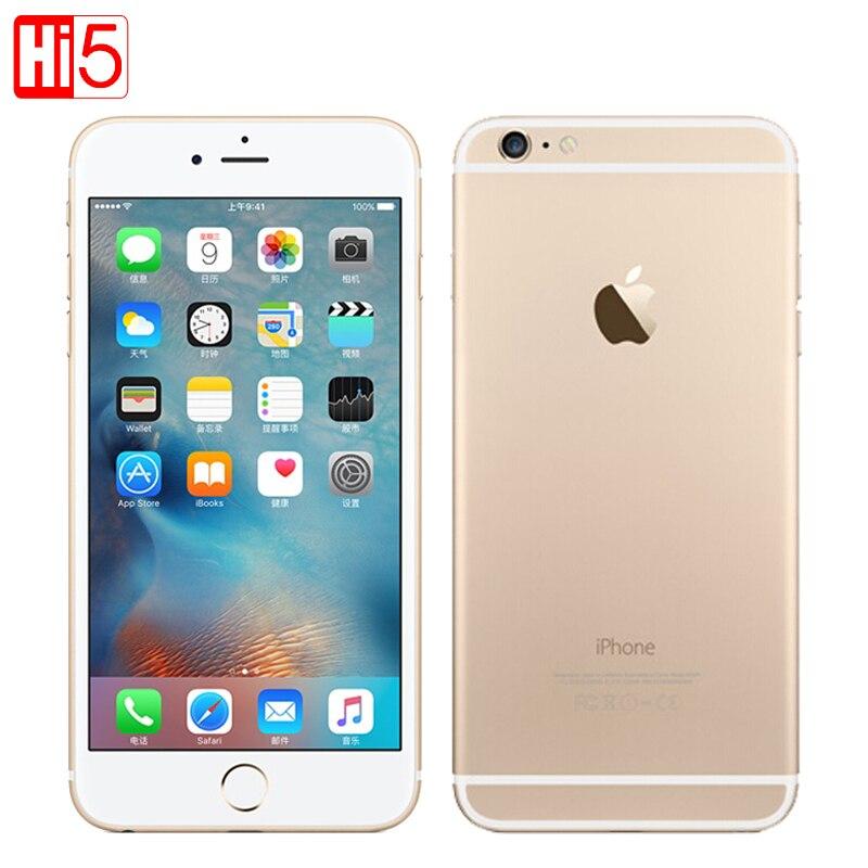 Sbloccato Apple iphone 6 Plus wifi Singola Sim Dual Core 16g/64 gb ROM IOS 8MP video LTE di Impronte Digitali 5.5