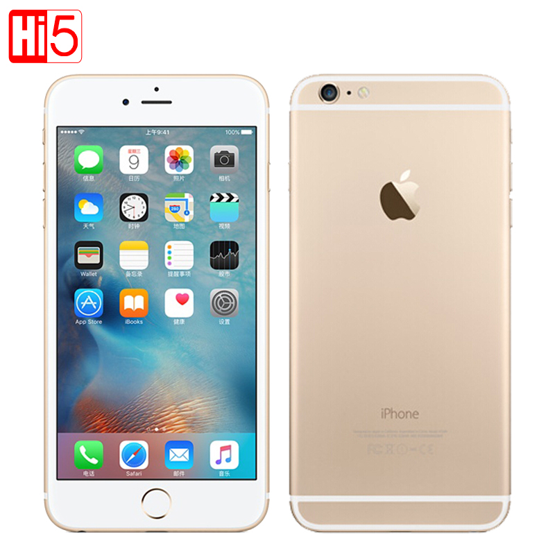 Unlocked Original Apple iphone 6 Plus SmartPhone Wifi Single Sim Dual Core 16G/64/128GB ROM IOS 8MP Video LTE Fingerprint 5.5 image