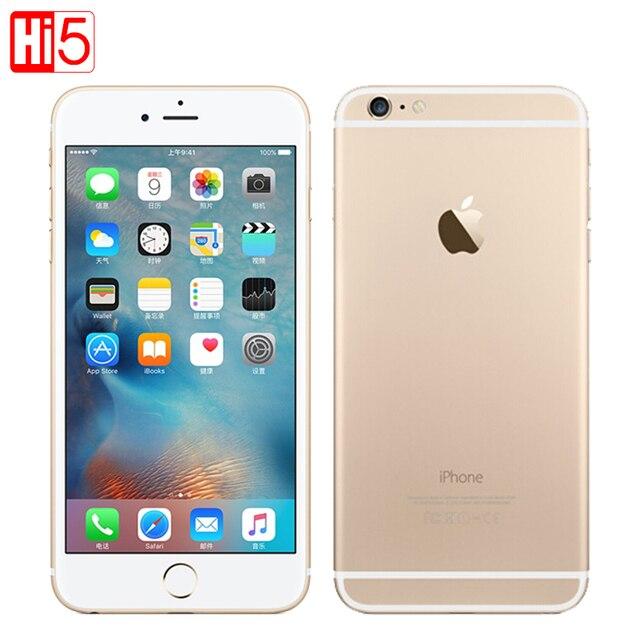"Unlocked Original Apple iphone 6 Plus SmartPhone Wifi Single Sim Dual Core 16G/64/128GB ROM IOS 8MP Video LTE Fingerprint 5.5"""