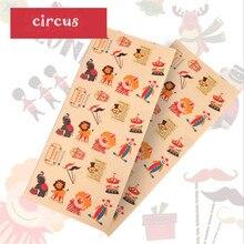 2pcs Circus Stickers Cute Show Clown Magic Tamer Acrobatics Scrapbooking Bubble Fabrics Kids Toys
