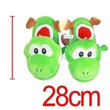 1c17b5ccc48a3 Super Mario Bros vert Yoshi peluche poupée intérieure pantoufles adultes  femmes hommes automne hiver maison pantoufles