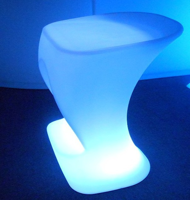 Led Bar Chair Stool High Luminous Pe Polyethylene Plastic Upholstered Furniture For Outdoor Activities