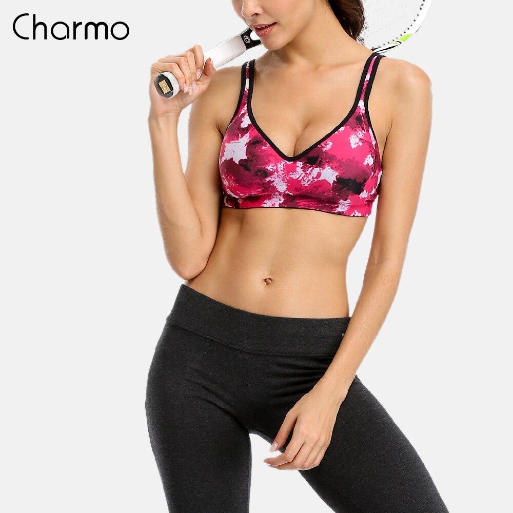 Nanomi Beauty Womens Padded Strappy Sports Bra Workout Running Yoga Tops
