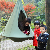 Indoor Outdoor Children Hanging Chair Seat Cotton Nest With Inflatable Cushion Garden Baby Kids Swing Sleeping