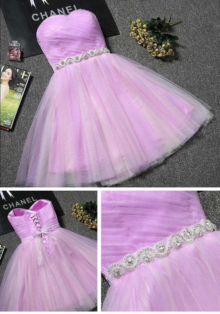 Princess Sweetheart Tulle Short Bridesmaid Dress 2