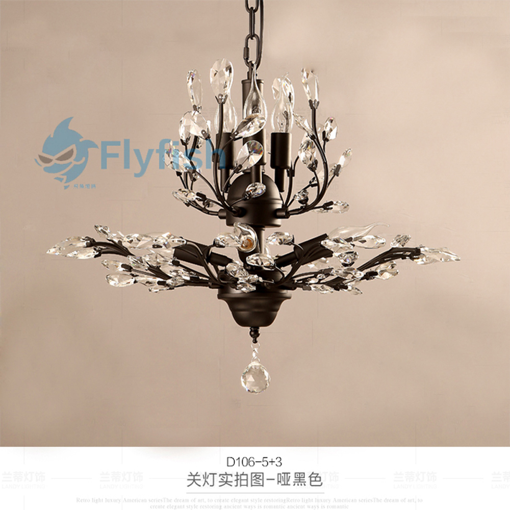 Compare Prices on Black Crystal Chandeliers Online ShoppingBuy