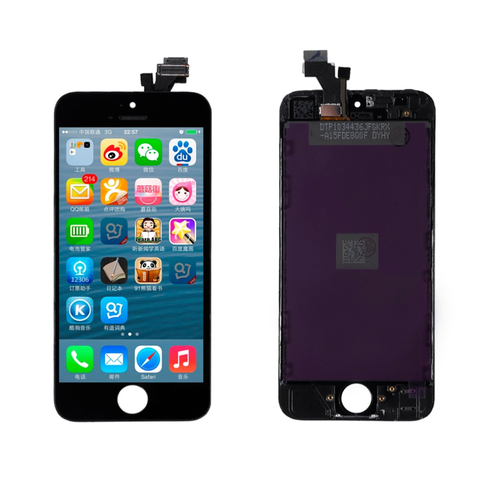 imágenes para 4 Pulgadas LCD de Pantalla Táctil Digitalizador Asamblea + Accesorio de Reparación de Parte de Reemplazo Para el iphone de Apple 5 5G 5S 5C Negro Blanco