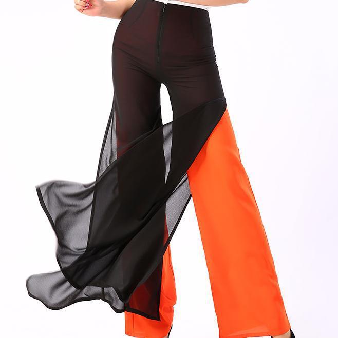 New Loose Long Chiffon Trousers Women's   Pant   PLUS SIZE 4XL Casual   Wide     Leg     Pants