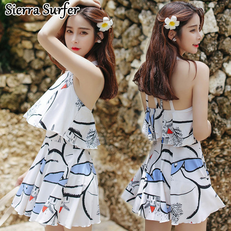 Swimming Suit For Women Swimwear One Piece Female May Beach Girls Bikinis Woman Skirt Push Up Korean Mayo Maio Costume Da Bagno