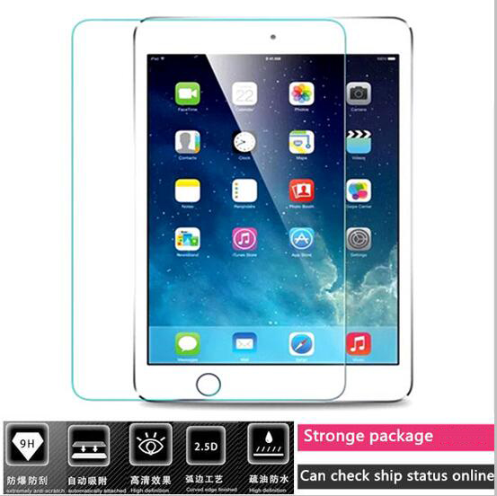 все цены на 9H about 0.3MM premium 2.5D curved tempered glass screen protector for apple 2017 ipad pro 9.7 air 1 2 protective film онлайн