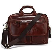 Genuine Leather New arrival cowhide male commercial messenger bag shoulder bag computer briefcase briefcase Laptop 7085x