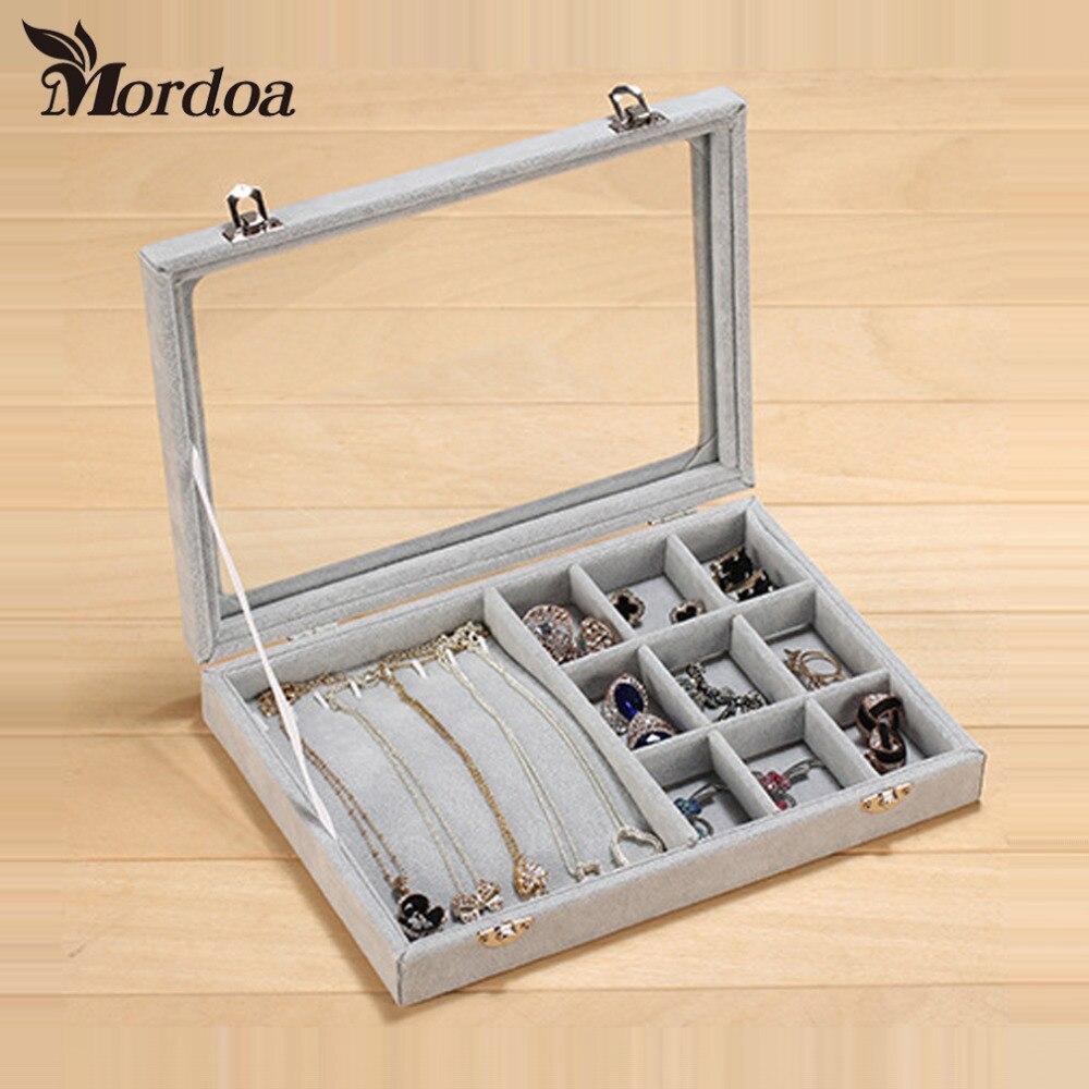 Fashion Velvet Jewelry Display Casket Jewelry Organizer Bracelets Necklace Pendant Box Case Jewlery Gift Box Jewelry Box