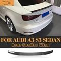 A3 S3 Fibra De Carbono Asa Traseira Spoiler para Audi A3 S3 8 V Sedan 2014 2015 2016 Car Auto Racing Cauda Trunk Bota Lip Asa Spoiler
