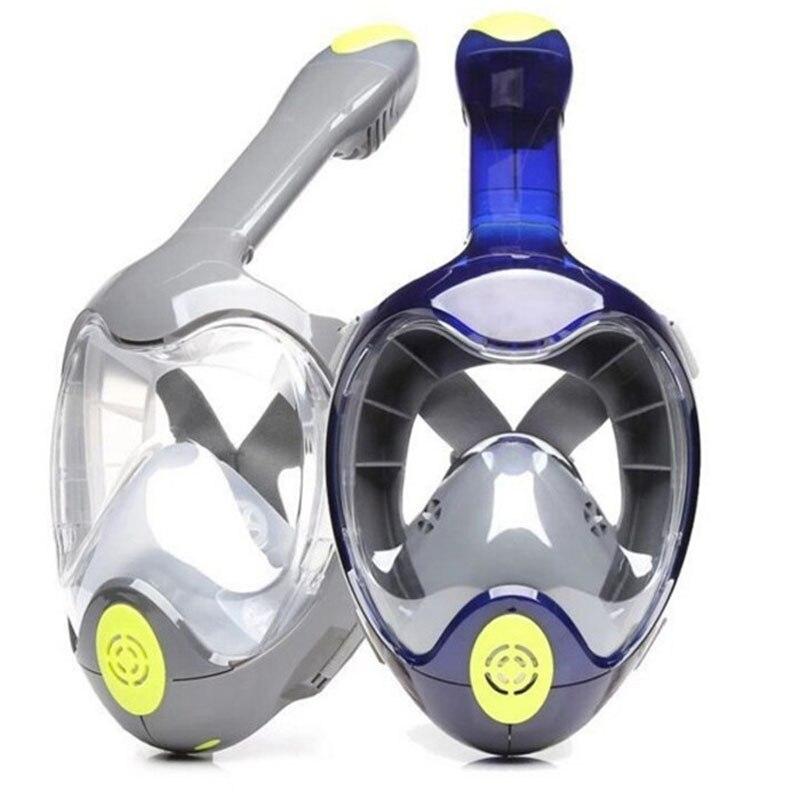 Nouvelle Plongée Plein Visage Masque de Plongée Anti-brouillard Imperméable À L'eau Sous-Marine De Natation Tuba Anti-déversement Snorkeling Plongée Masques GoPro support