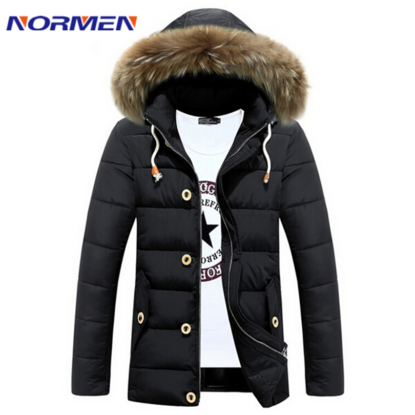 ФОТО Mens winter jacket thick warm padded cotton jacket and long sections thicker Nagymaros collar jacket for men