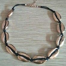 Fashion Nature Shell Choker Necklace Handmade Seashell Jewelry Gold for Women Summer Ocean Beach Boho