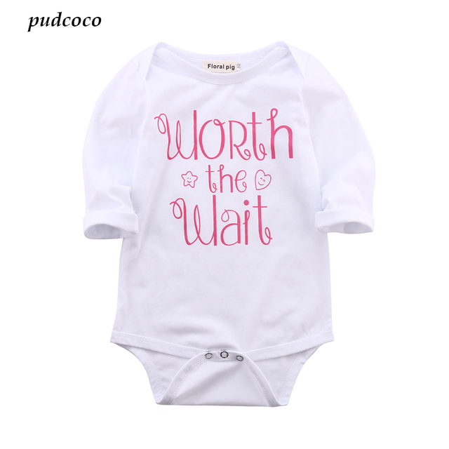 b2325f307 Infant Babies Girl Cute Cotton Bodysuit Newborn Baby girls letter Long  Sleeve Bodysuits Outfits Kids Clothing