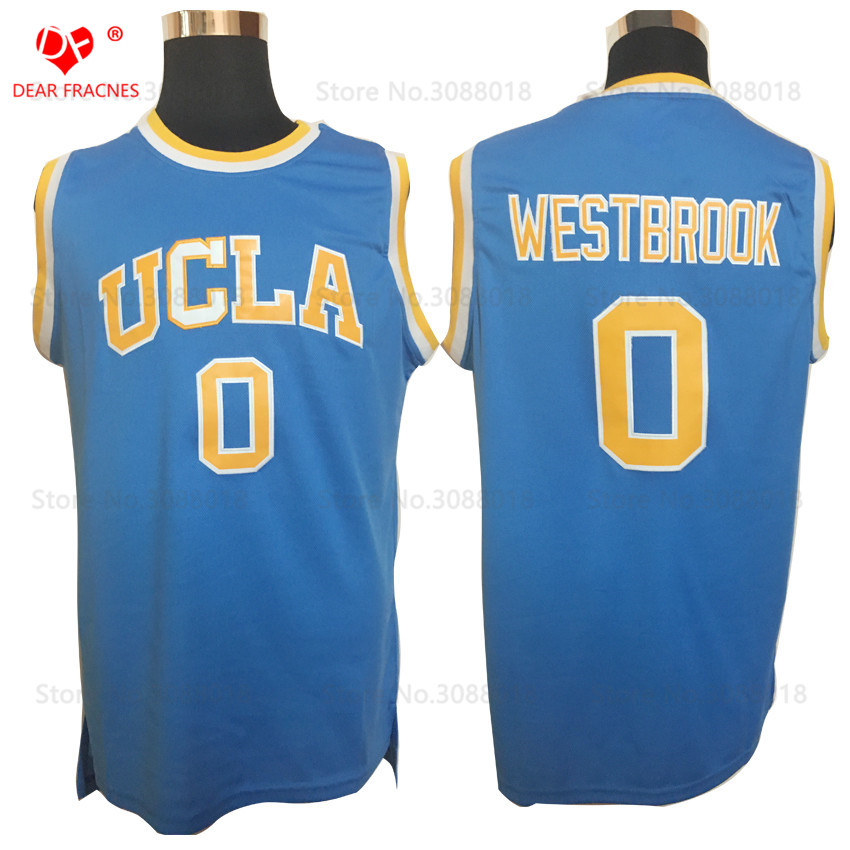 Top Movie #0 Russell Westbrook Jersey Throwback Basketball Jersey Vintage UCLA Bruins College Basket Shirt For Men Stitched ...