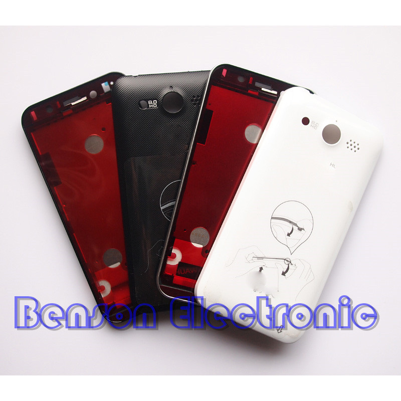 Цена за BaanSam Новый ЖК-Держатель Передняя Рама Задняя Крышка Батареи Для Huawei U8860 Жилья Case С 3 M Клей + Power Объем кнопки