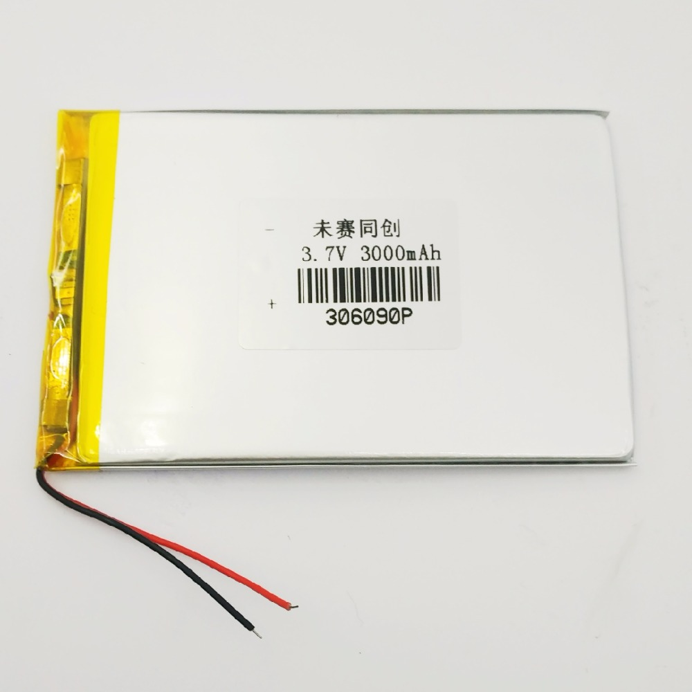 7 inch Tablet PC Battery 3 7V 306090 3000MAH Lithium Polymer Rechargeable Battery Lithium ion MP5 Mobile Phone Built in Battery in Replacement Batteries from Consumer Electronics