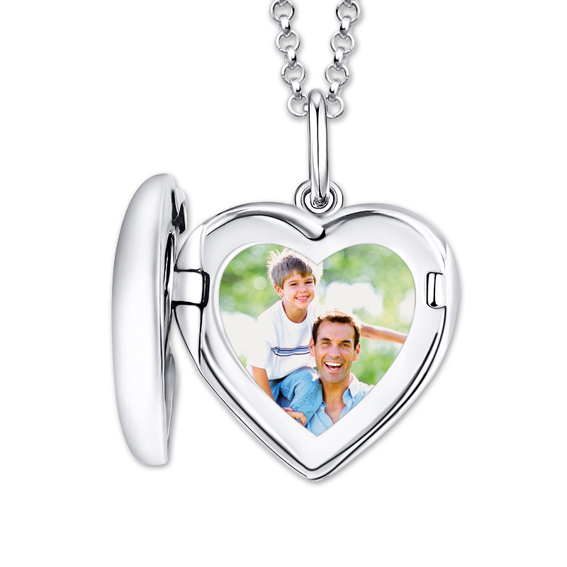 Wholesale Engraved Heart Photo Locket Memorialize Pendant Necklace Christmas Gift hollow out engraved heart pendant necklace