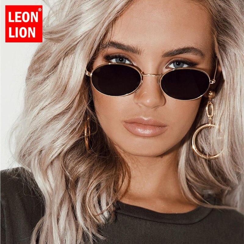 LeonLion 2019 Vintage Luxury Sunglasses Women Alloy Mirror Classic Glasses Street Beat Shopping Retro Oculos De Sol Gafas