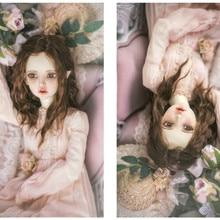 BJD кукла парики из натуральных волос имитация мохер супер мягкие для 1/3 1/4 1/6 BJD DD SD MSD YOSD куклы длинные вьющиеся плюшевый каштановые волосы парики