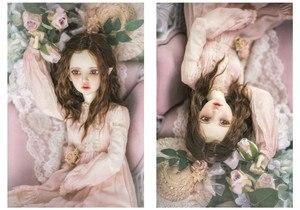 Image 1 - BJD בובת שיער פאות חיקוי אנגורה סופר רך עבור 1/3 1/4 1/6 BJD DD SD MSD YOSD בובת ארוך מתולתל טדי חום שיער פאות